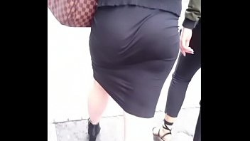 Candid Black Dress Jiggle Booty Clapping