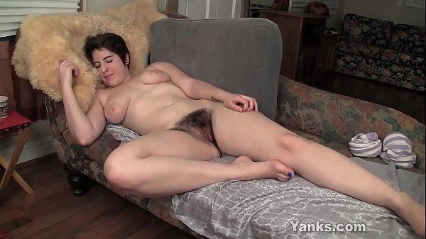 Busty Amber Fucks A Rabbit Dildo 9 min