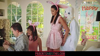 Teen fucks uncle dressed as Easter Bunny