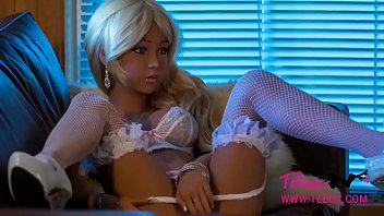 Busty blonde petite sex doll