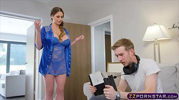 Busty MILF chick fucked by her angry gamer stepson 6 min
