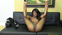 Amateur black girl gets nude and sucks cock