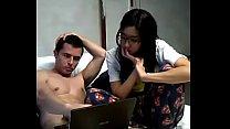 [AmateurWebcamBabes.com] - Shy Hot Asian Fucks White Boyfriend On Cam
