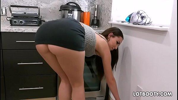 Gorgeous brunette big ass babe Aidra Fox fucks handy man (Join Now! DateMe18.com)