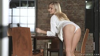 Hot blonde Cayla Lyons on a big cock