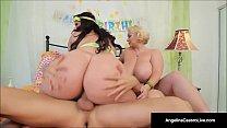 Cuban BBW Angelina Castro & Sam GG Take Turns Fucking John!