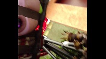 My asspussy sucking on a jewled butt plug.
