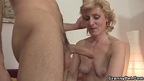 He picks up mature blonde for play