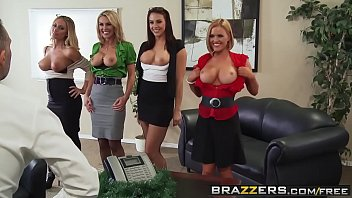 Brazzers - Big Tits at Work - Office 4-Play Christmas Edition scene starring Chanel Preston Krissy L