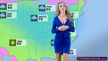 Busty weather chick gets fucked live on a TV studio 6 min