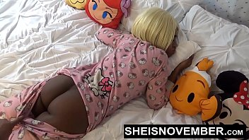 Ebony Amateur Step Sister Msnovember Riding Bro Bigcock & Smahed Doggystyle  POV Sex With  BigTits & BigAss Out on Sheisnovember