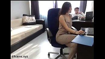 Beauty Brunette fucked by her boss - 69cams.xyz