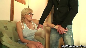 Skinny old m. in law taboo cock riding