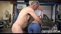 Precious young babe rides old rod