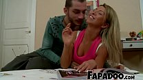 Bored Guy Convinces Sexy Blonde And Fucks Her!
