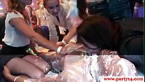 Cocksucking party babes get pounded