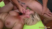 extreme pierced German Milf gets gangbang fisted