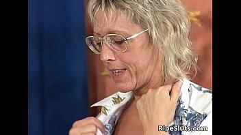Sexy blonde mature teacher is hot as she