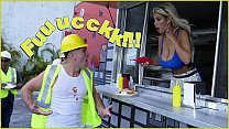 BANGBROS - Bridgette B Serves Sean Lawless Hot Dogs And A Pair Of Big Tits