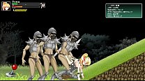 Pretty teen hentai girl in hard sex with soldiers - Battle of Girls ryona game