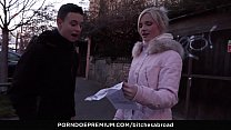BITCHES ABROAD - Pick up and fuck with Hungarian blondie tourist Zazie Skymm