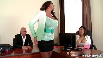 My Busty Executive Mom Emma Butt sets up Office Threesome