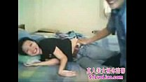 Chinese couple self-timer video
