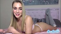 Zoey Taylor big ass blonde teen finger fucking tight tiny pussy