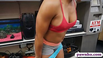Muscular chick banged by nasty pawn dude