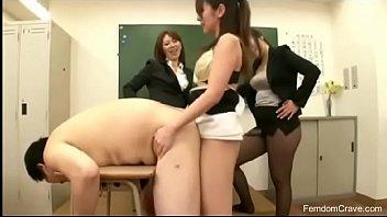 Three teachers fucking japanese guy
