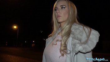 Public Agent Florane Russell Fucked in car and cum on her tits