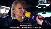 BUMS BESUCH – Tattooed porn star sucks and fucks horny newbie