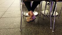 Cams4free.net - Candid White Girl Feet in Food Court