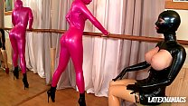 Latex Lucy Dominates Blue Angle As They Fetish Play And Dildo Fuck