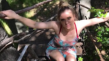 Stepmom helps stepson cum in his treehouse - Erin Electra