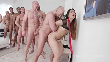 Asian Slut May Thai Gets Facialized in 10on1 Gangbang