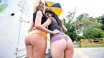 BANGBROS - Big Booty Surprise With Latina Pornstars Jenny Hendrix and Evie Delatosso On Ass Parade!