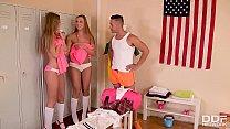 Euro Sluts Ornella Morgan & Tiffany Tatum BJ's in the Locker Room
