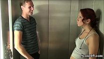 18jr Teeny Natalie fickt mit Fremden im Fahrstuhl vom Hotel - 18yr old German Teen Seduce to Fuck by Stranger in Lift