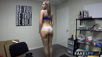 Adorable tall teen tricked into fucking for a job in POV 7 min