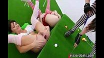 Golf ball in ass