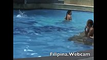 Filipina.webcam girl in pool party get ready in hotel in Manila stripping for me