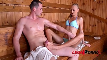 Sizzling Hardcore Sex in the Sauna with Petite Nympho Nancy A GP038