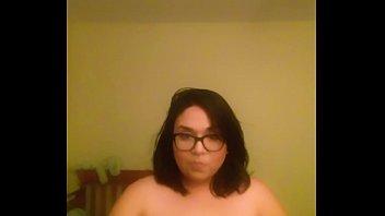 Brunette BBW shows me her naked body behind her husbands back