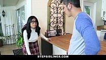 StepSiblings - Nerdy Teen (Monica Asis) Rides Stepbros Cock