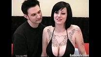 Busty tattooed amateur in homemade sex video