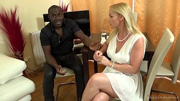 Your gorgeous WHITE wife FUCKING your boss's 11 inches BIG, BLACK COCK right front of you!