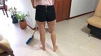 Hot latina maid fucks for money