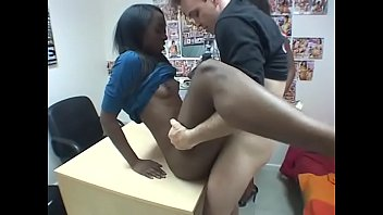 White stud fucks two sexy black hoes indoors