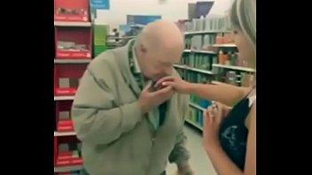 Slut fingers herself on walmart and lets strangers sniff her finger